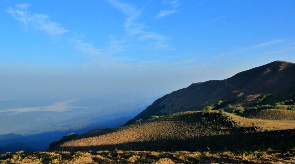 View from Mandalpatti Hills on a clear winter day in Coorg