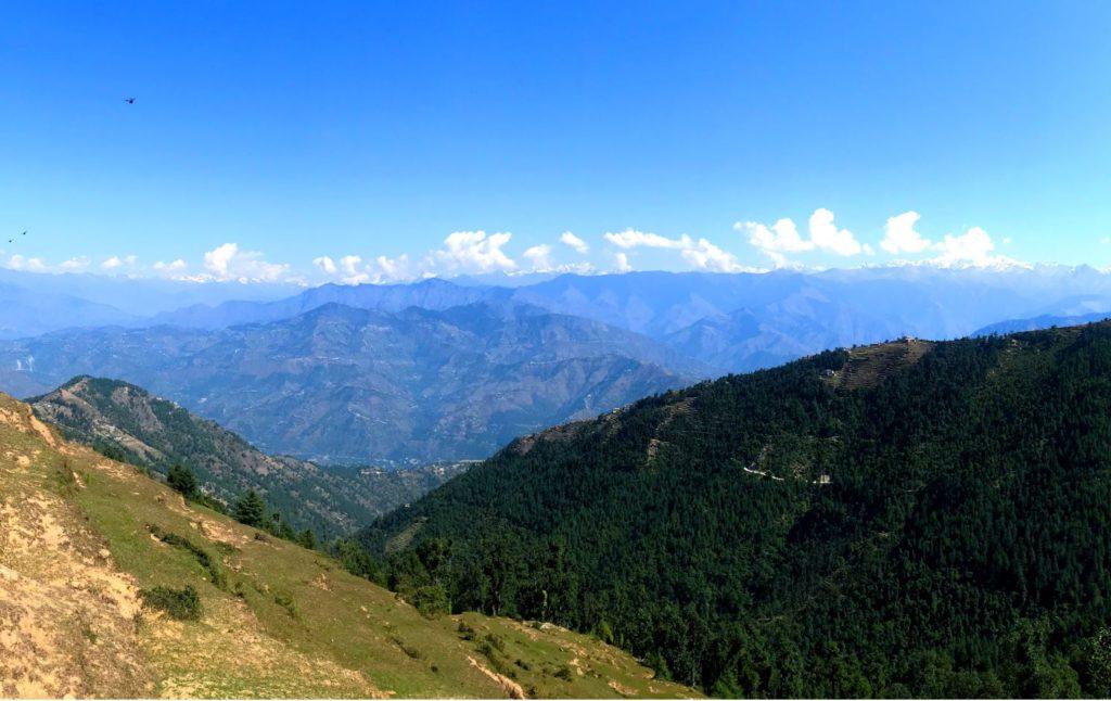 View of Dauladhar range on the way to Khajjiar