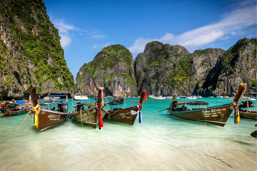 Boats in Ko Phi Phi