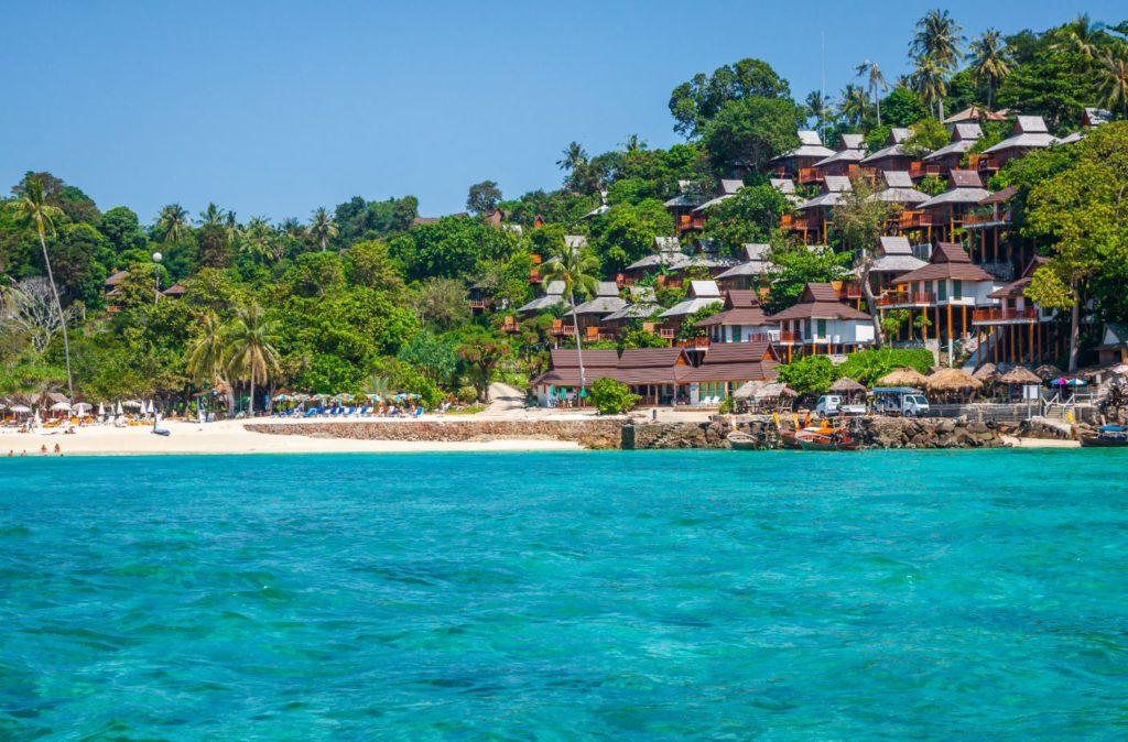 Seaside hotels at Koh Phi Phi