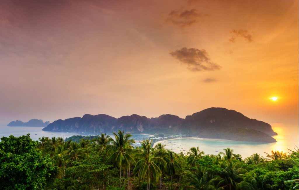 Sunset view from Ko Phi Phi viewpoint