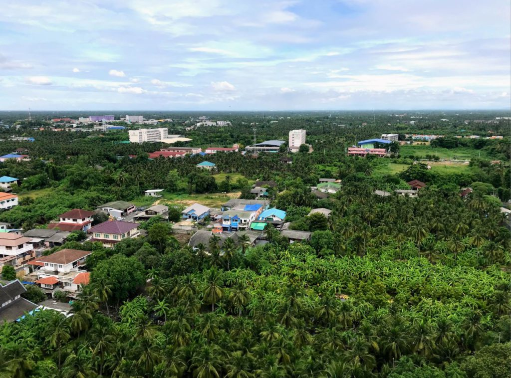 View from the top of Wat Samphran