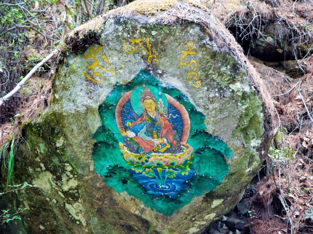 A painting of Guru Rinpoche or Padmasambhava, the second Buddha