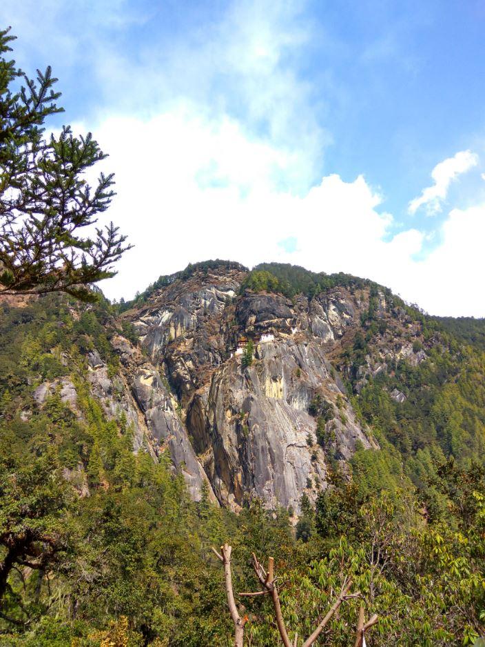 Taksang monastery as seen from below