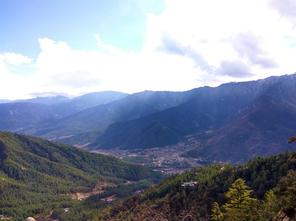 View of the Paro valley from the top