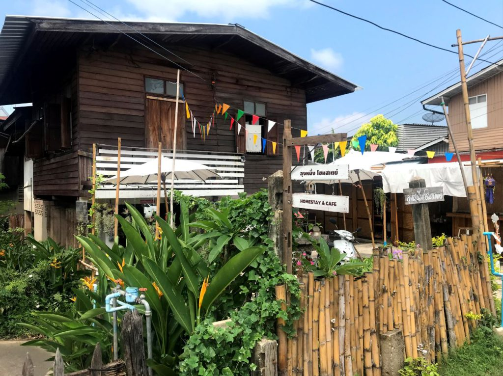 A traditional wooden style Lanna homestay