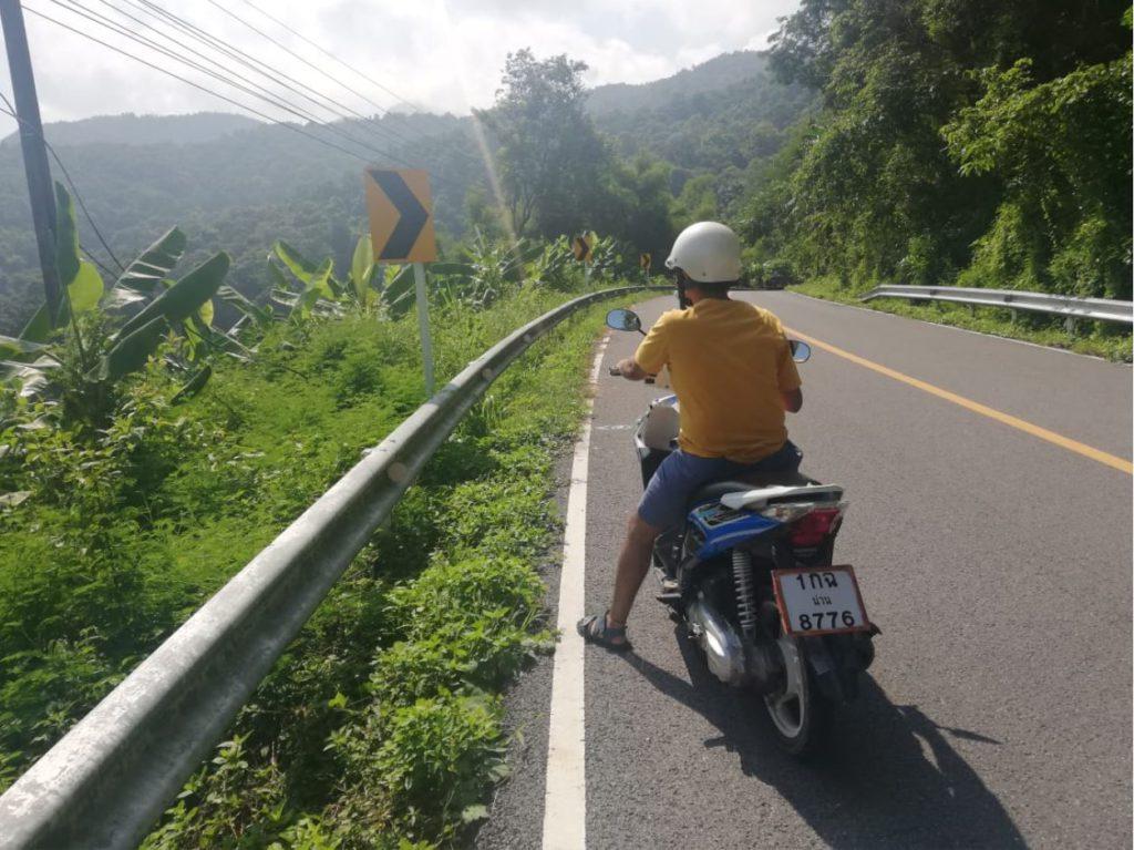 Riding a two wheeler in Nan