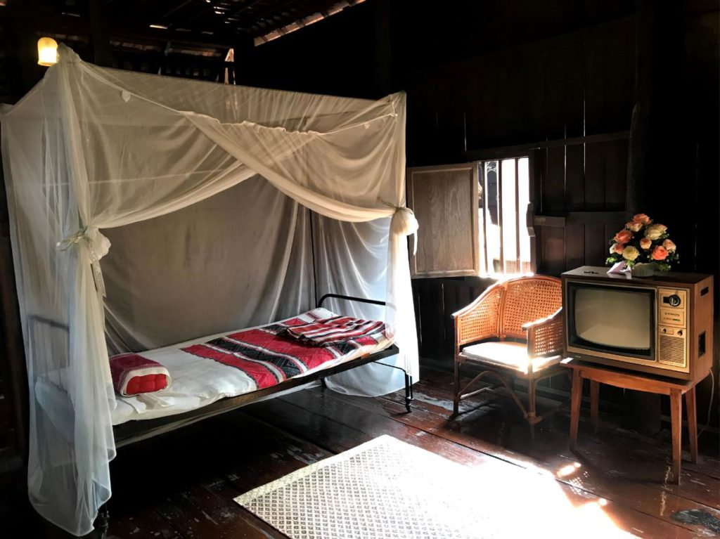 Traditional Lanna style bedroom from 1900s