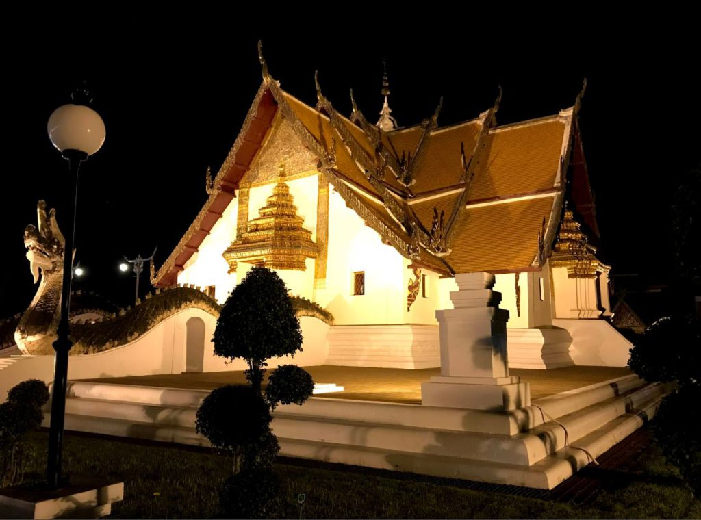 Wat Phumin at night in Nan