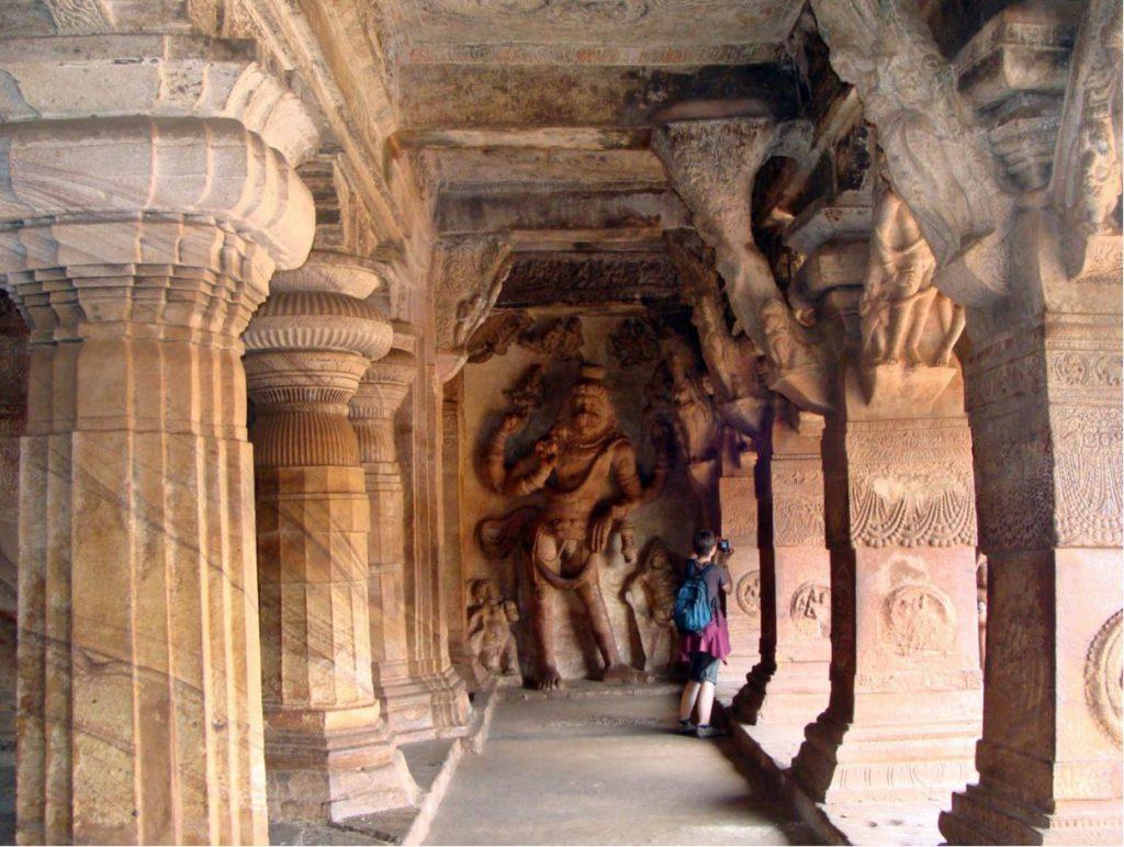 Inside Badami cave temples, India