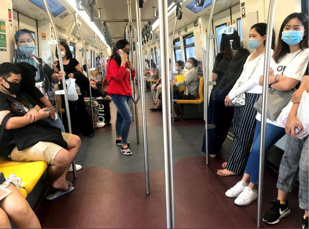Inside BTS Skytrain, how to travel inside Bangkok