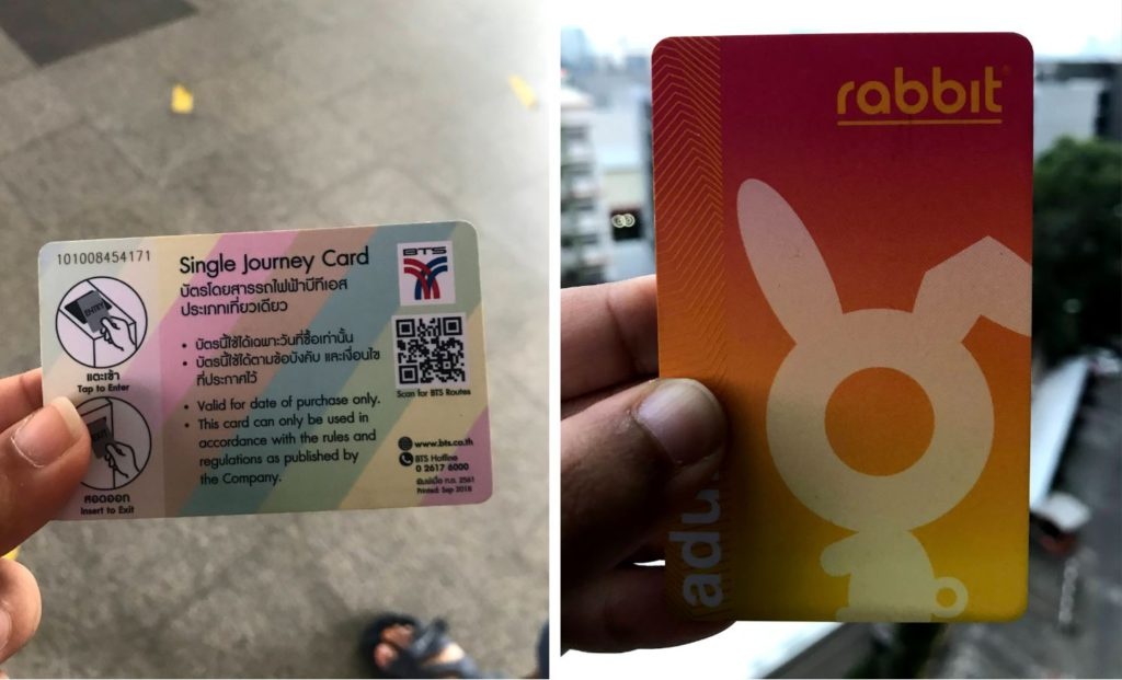 One time token (left) and Rabbit card (right) for BTS