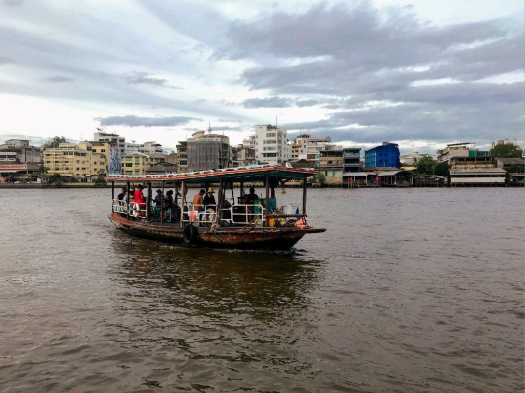 River cross boats on Chao Phraya River
