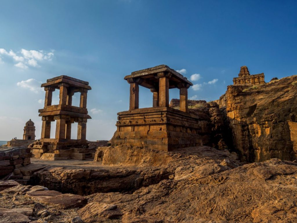 Scorching sandstone during summers