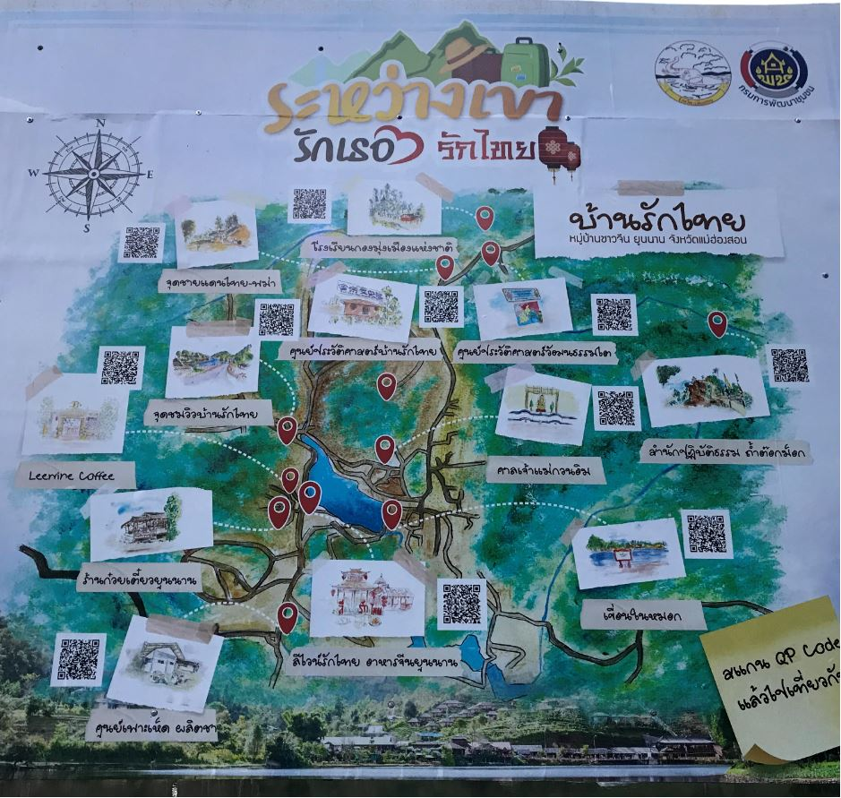 A map of the village