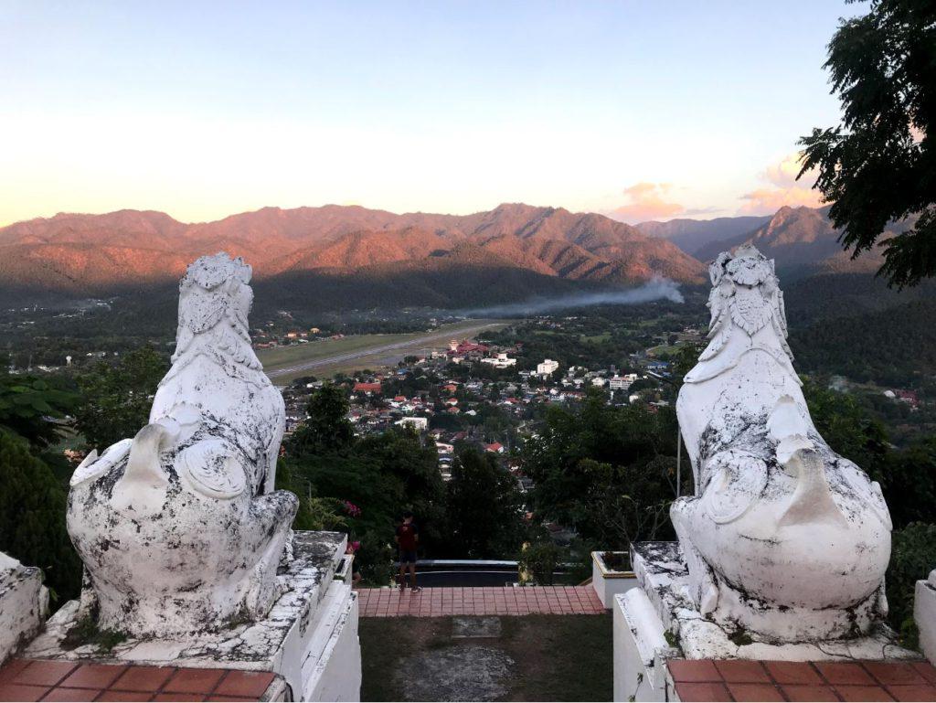 Aerial view of Mae Hong Son town