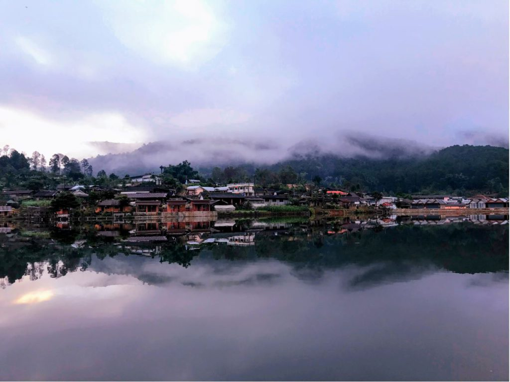 Ban Rak Thai Lake early morning