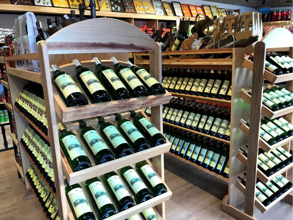 Local wines at Lee Wine shop