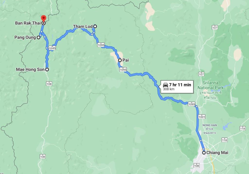 Our itinerary to Mae Hong Son Thailand