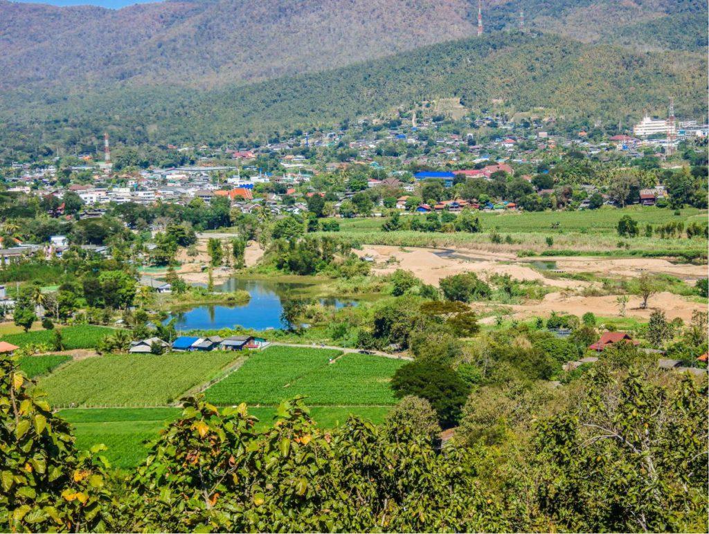 Mae Sariang town in Mae Hong Son Province