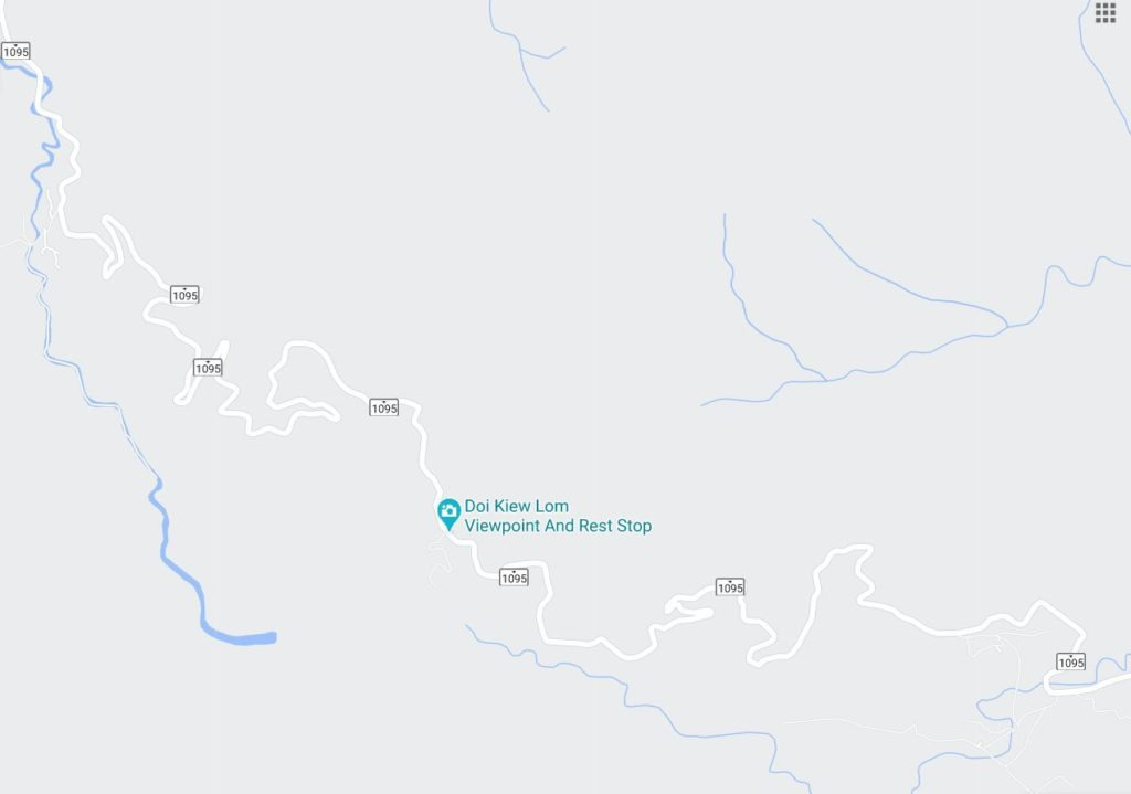 Road to Mae Hong Son on Google Maps