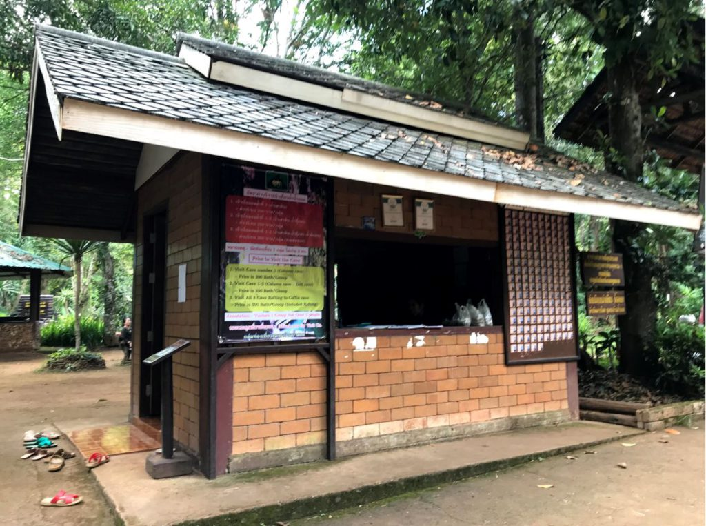 Ticket counter at Tham Lod caves
