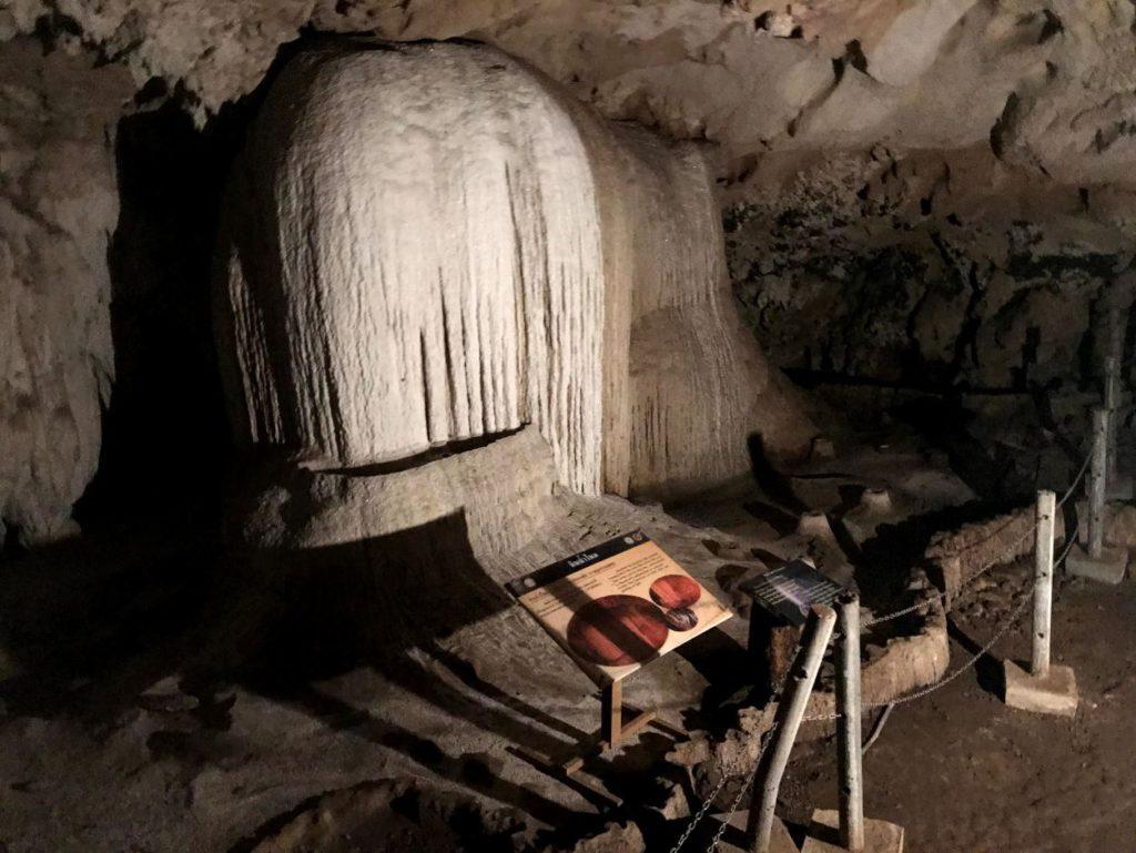 Unique stalagmites and stalactites inside Tham Lod Caves