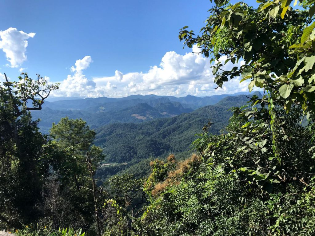 View of the surrounding valleys from Pai to Mae Hong Son