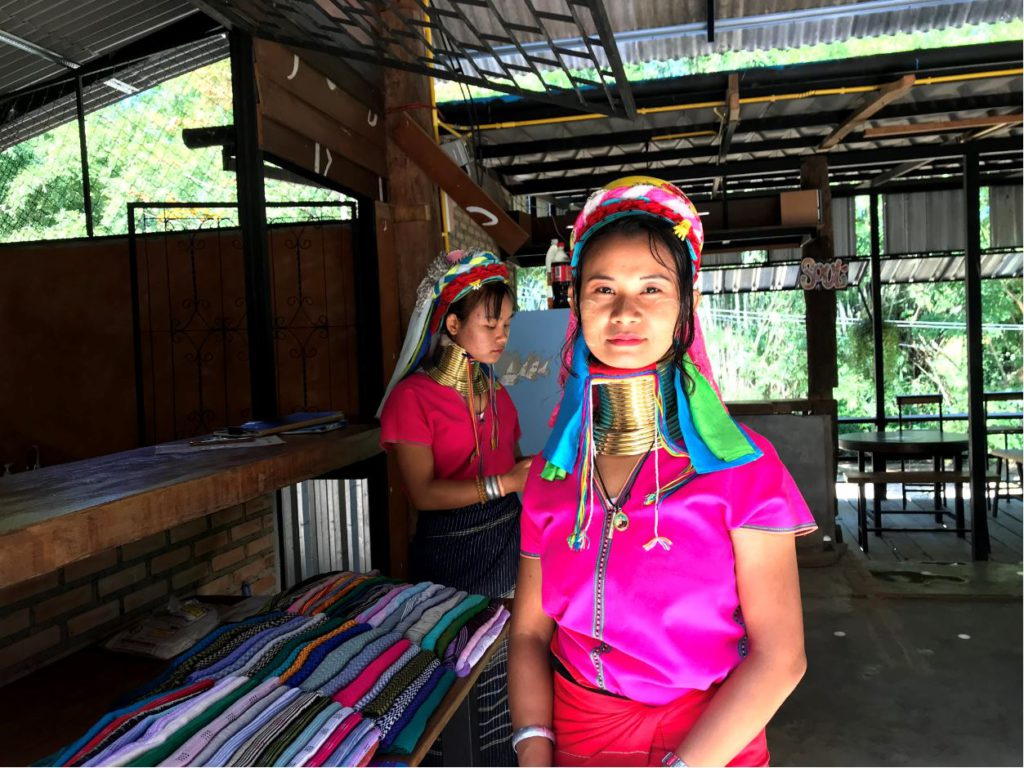 Visiting a long-neck tribe village