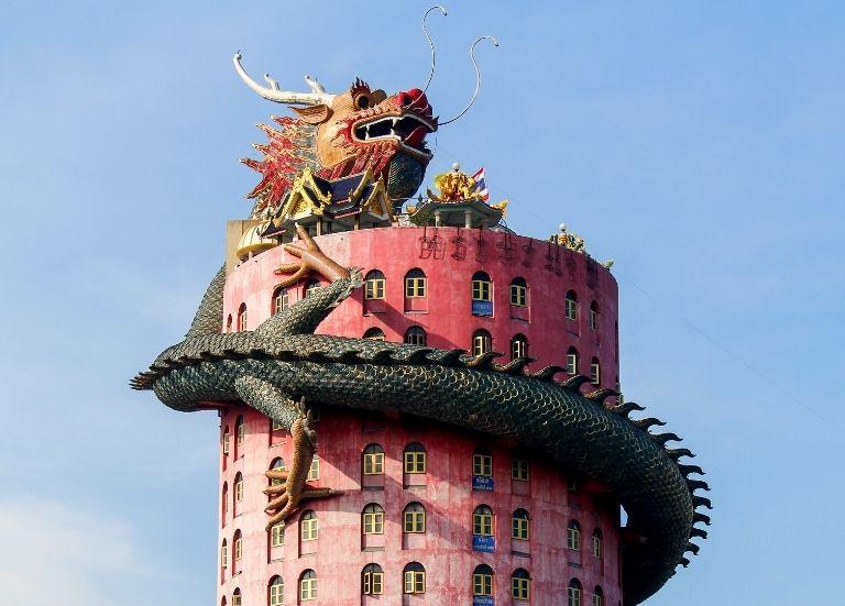 How to reach Wat Samphran, the dragon temple in Thailand