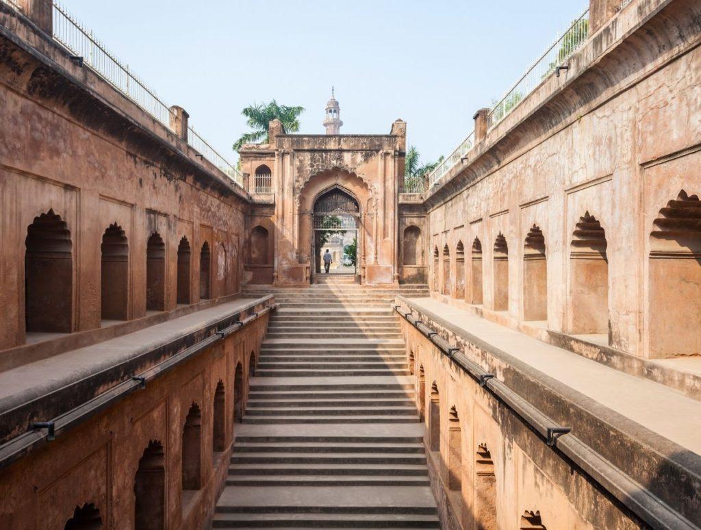 Step well inside Bada Imambara