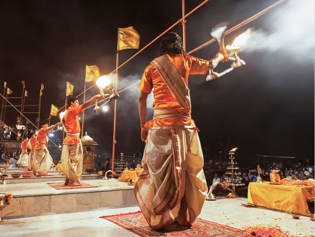 Evening Aarti at Dashashwamedh ghat, Varanasi