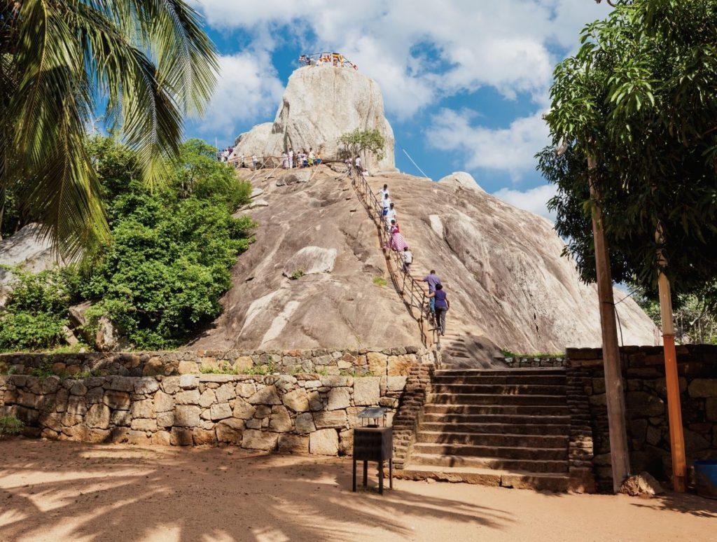 People climbing the Mountain of Mahinda, Anuradhapura