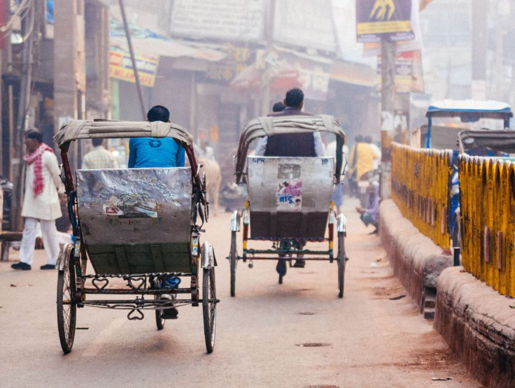 Rickshaw, a common mode of transportation in Varanasi