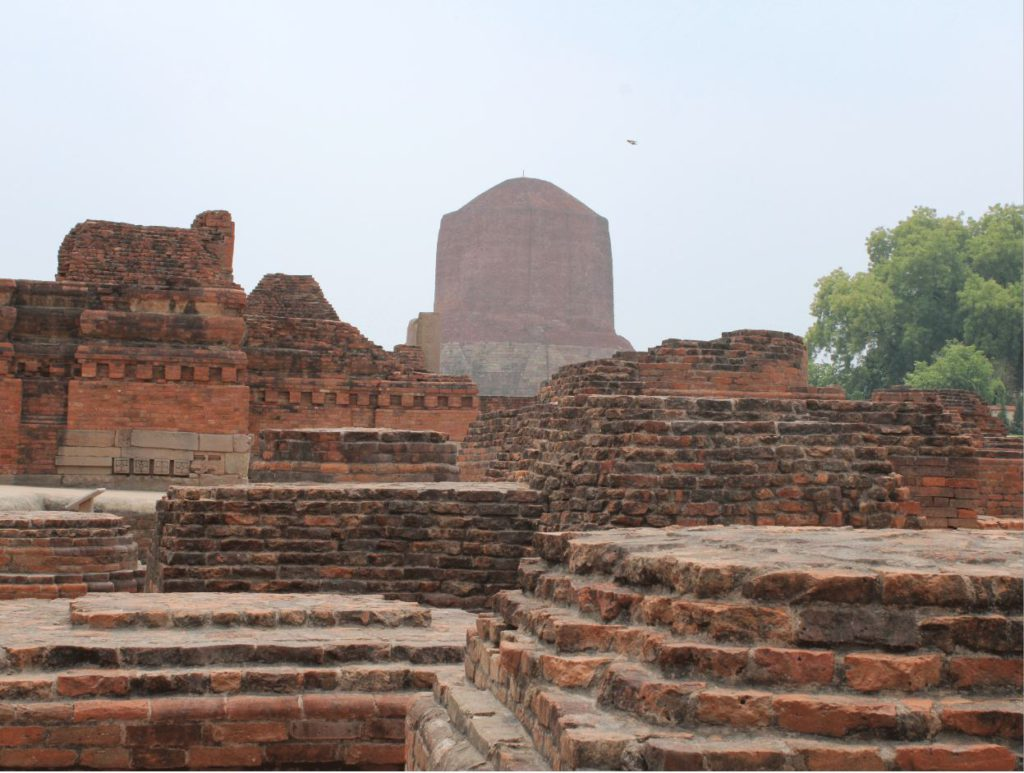 The ruins of Sarnath near Varanasi