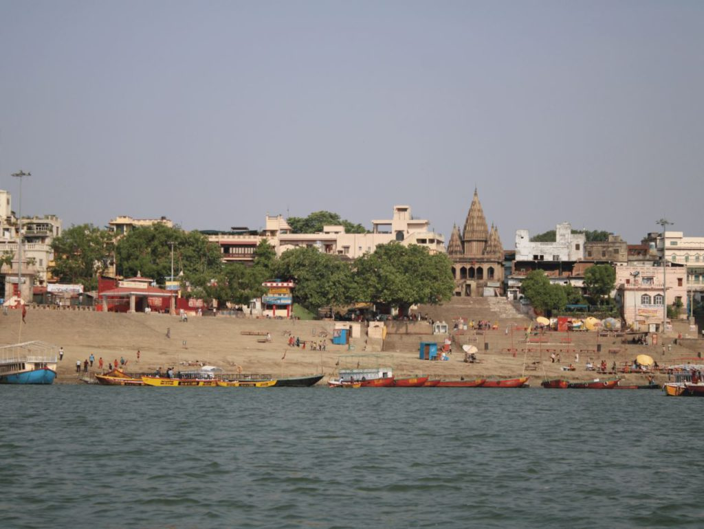 View of Assi Ghat from the river, Varanasi