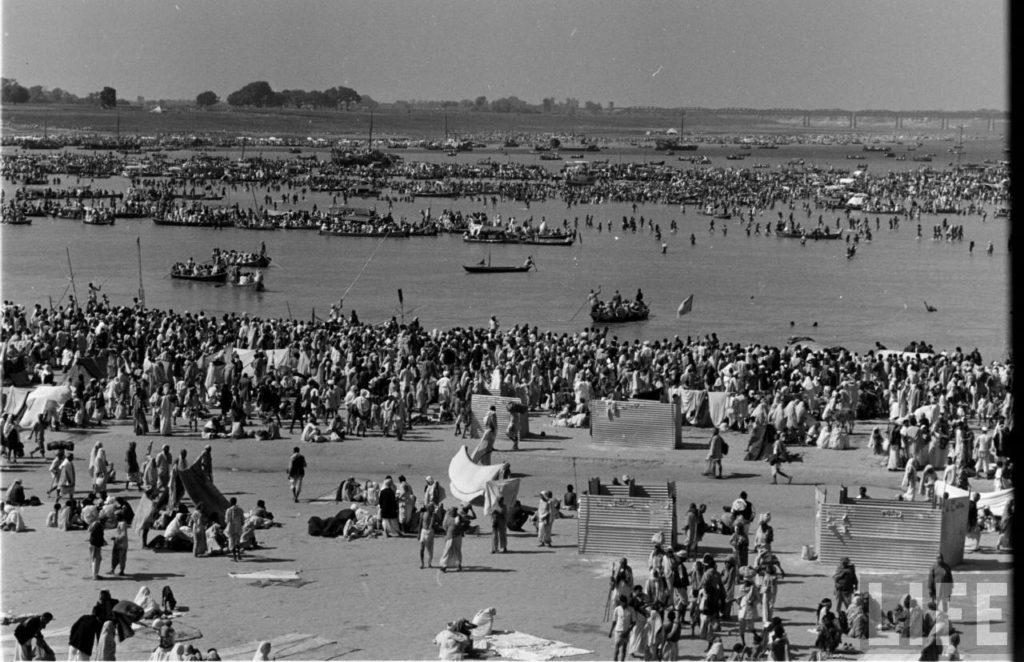 1954 Kumbh Mela in Allahabad, Uttar Pradesh.