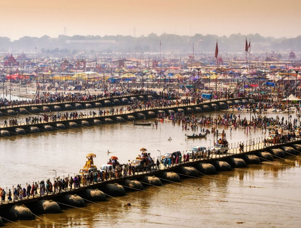 A procession during Kumbh Mela in Allahabad