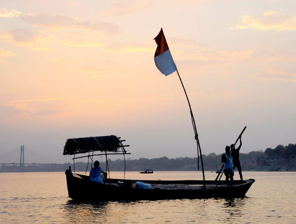 A boat ride at Sangam, Prayagraj