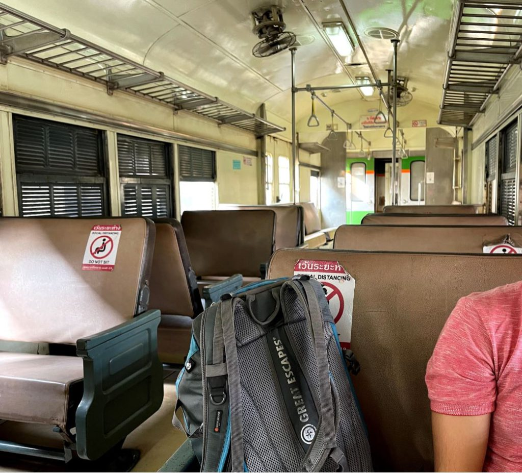 3rd class carriage in trains in Thailand