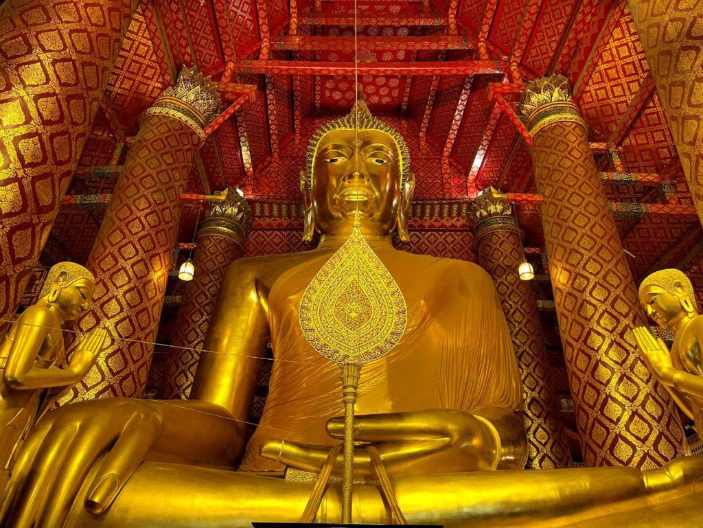 Inside Wat Phanan Choeng Worawihan, Ayutthaya