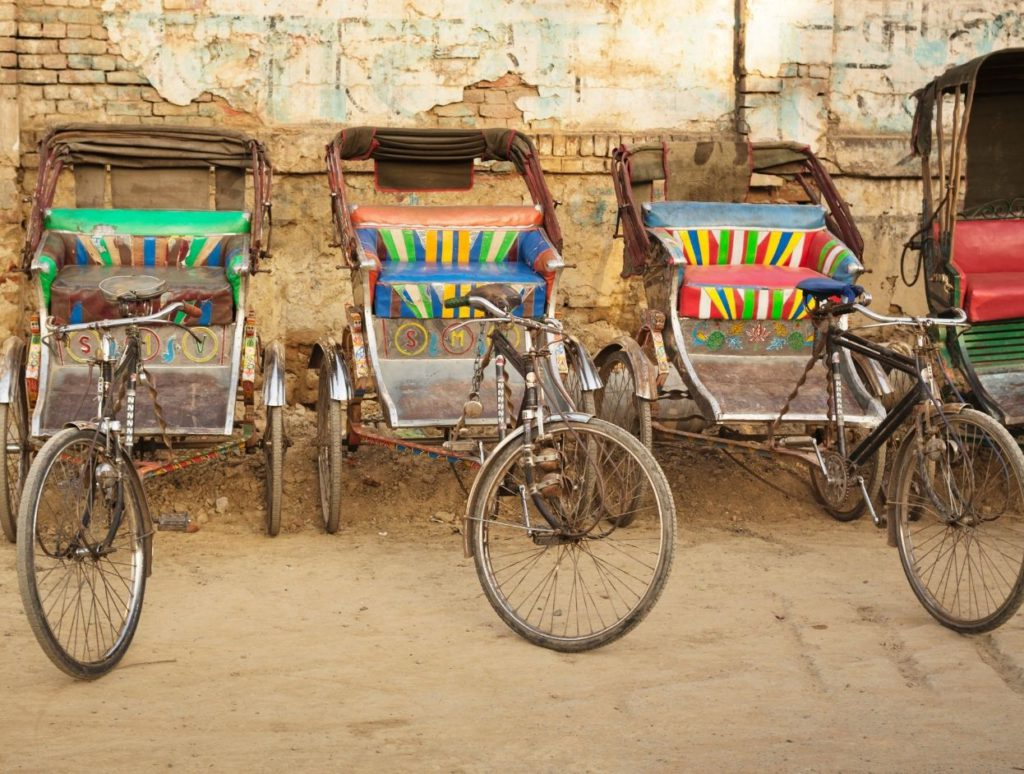 Paddle rickshaw in India